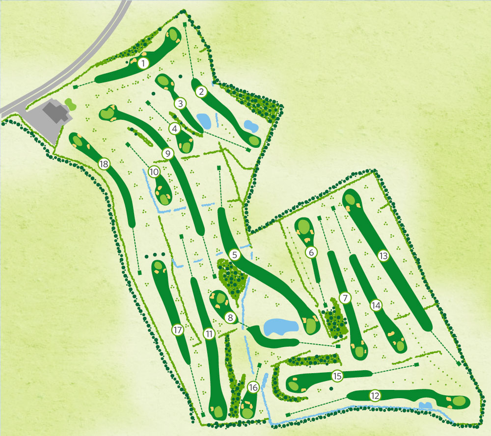 Williamstown Golf Course Map